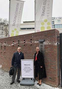 Emma Stokes with Jan Monsbakken (Immediate Past President, Rehabilitation International)