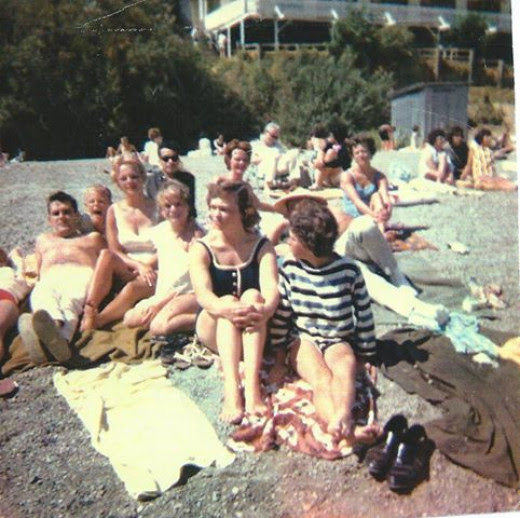 Aunts, Uncles and cousins at Russian River 1964