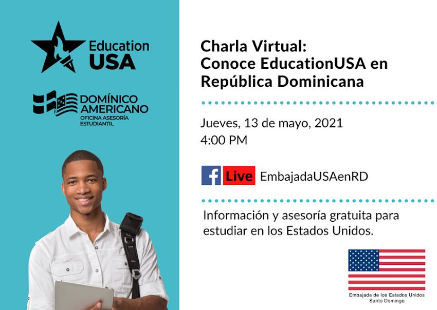 Le invitamos a la charla virtual sobre EducationUSA en la República Dominicana