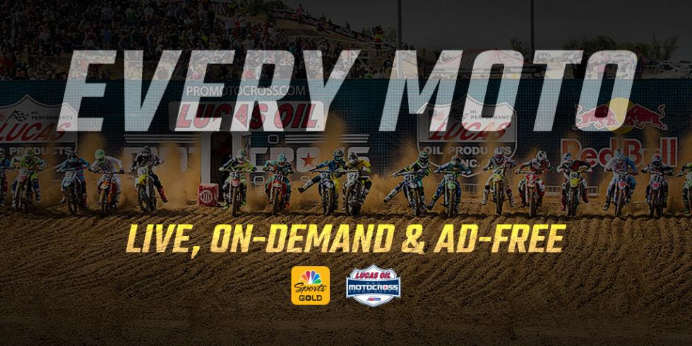 Qualifiers, Moto 1s and Moto 2s Available Live, On-Demand and Commercial-Free with New