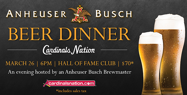 >Anheuser Busch Beer Dinner at Cardinals Nation