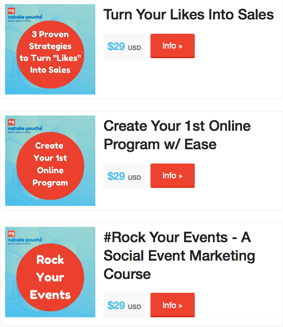 $29 Classes - Turn likes into sales. create your 1st online program, event marketing