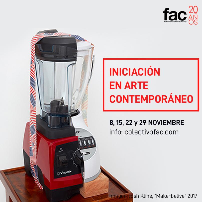 Iniciación en Arte Contemporáneo | 8, 15, 22 y 29 de noviembre.