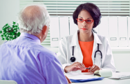 Doctor talking to a patient about expanded access