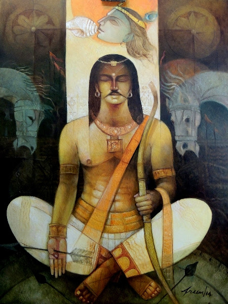 Arjuna (painting by Arun Kumar Samadder)