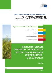 The EU cattle sector: challenges and opportunities - milk and meat