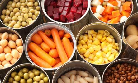 Canned veggies