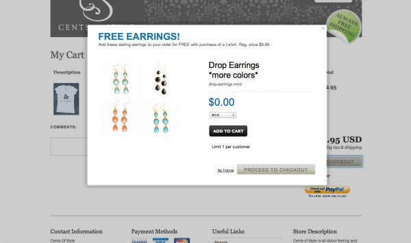IMAGE: Free Earrings with T-Shirt Purchase