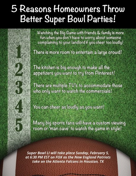 5 Reasons Homeowners Throw Better Super Bowl Parties! [INFOGRAPHIC] | MyKCM