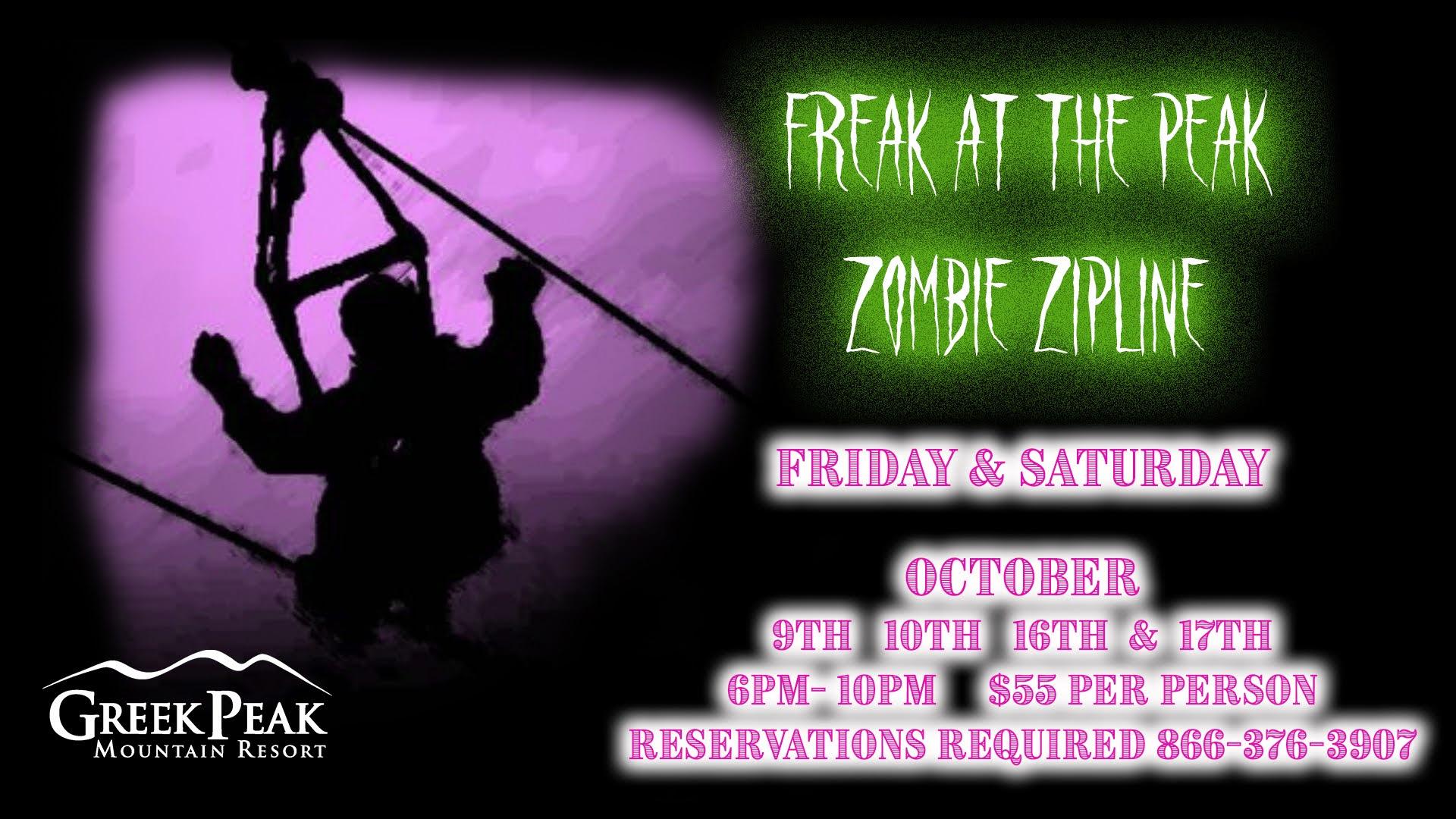 Freak at the Peak Zombie Zombie Zipline