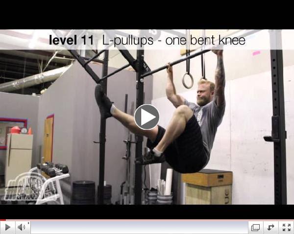 Strict L-Pullup Progression - Barbell Shrugged Progression Series