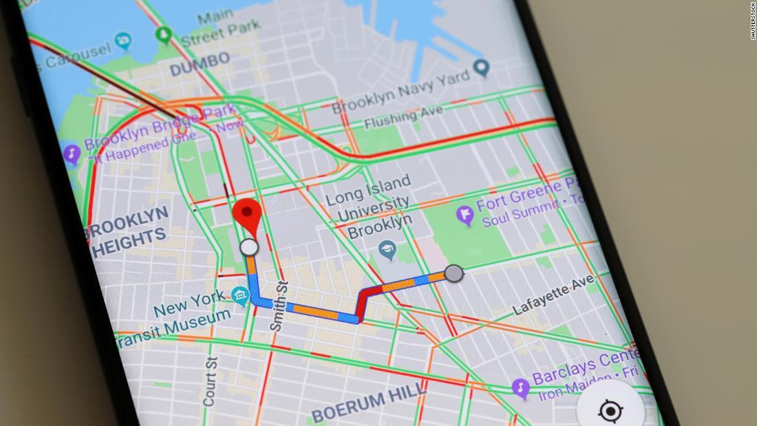 Google Maps on a smartphone screen