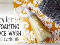 How to make a foaming hydrosol face wash with essential oils