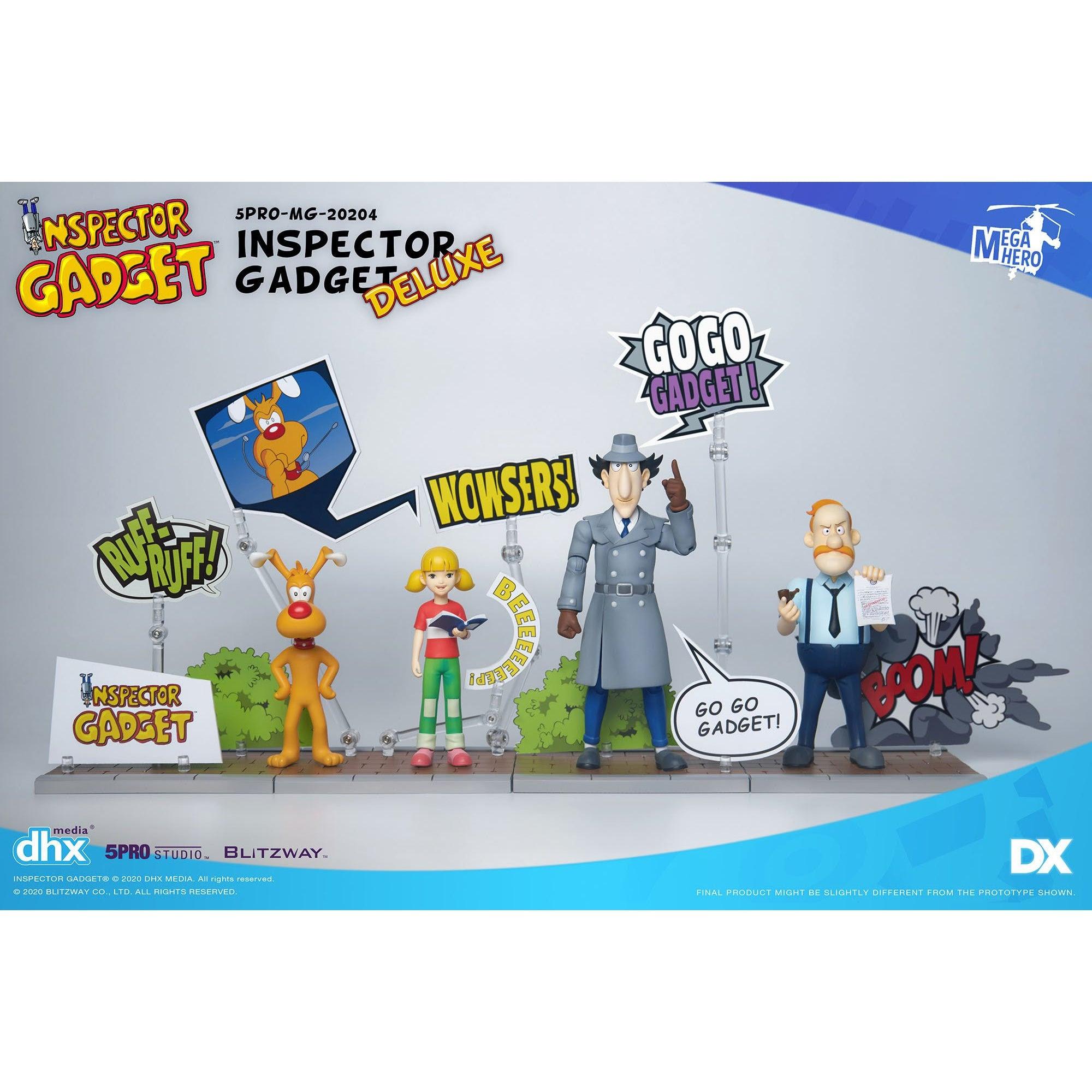 Image of Inspector Gadget MEGAHERO SERIES - Inspector Gadget 1:12 Scale Action Figure DX.ver Set of 4 - Q4 2020