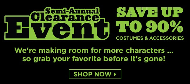 Up to 90% off Costumes! Shop t...