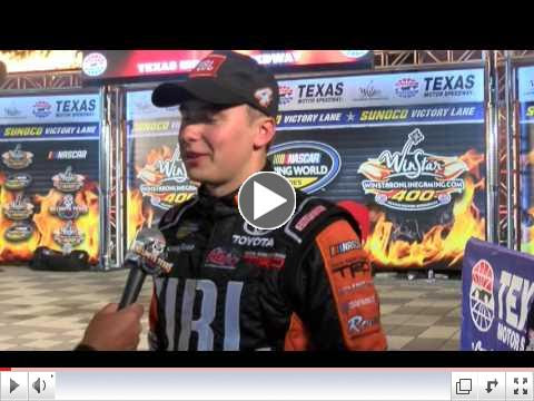 Click above for interview with Bell in Victory Lane.