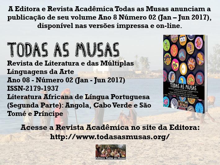 No ar novo número da Revista Acadêmica Todas as Musas