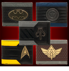 MIXED MATERIAL BI-FOLD WALLETS