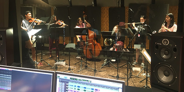 NJSO Youth Orchestras recording at Audible studios in Newark