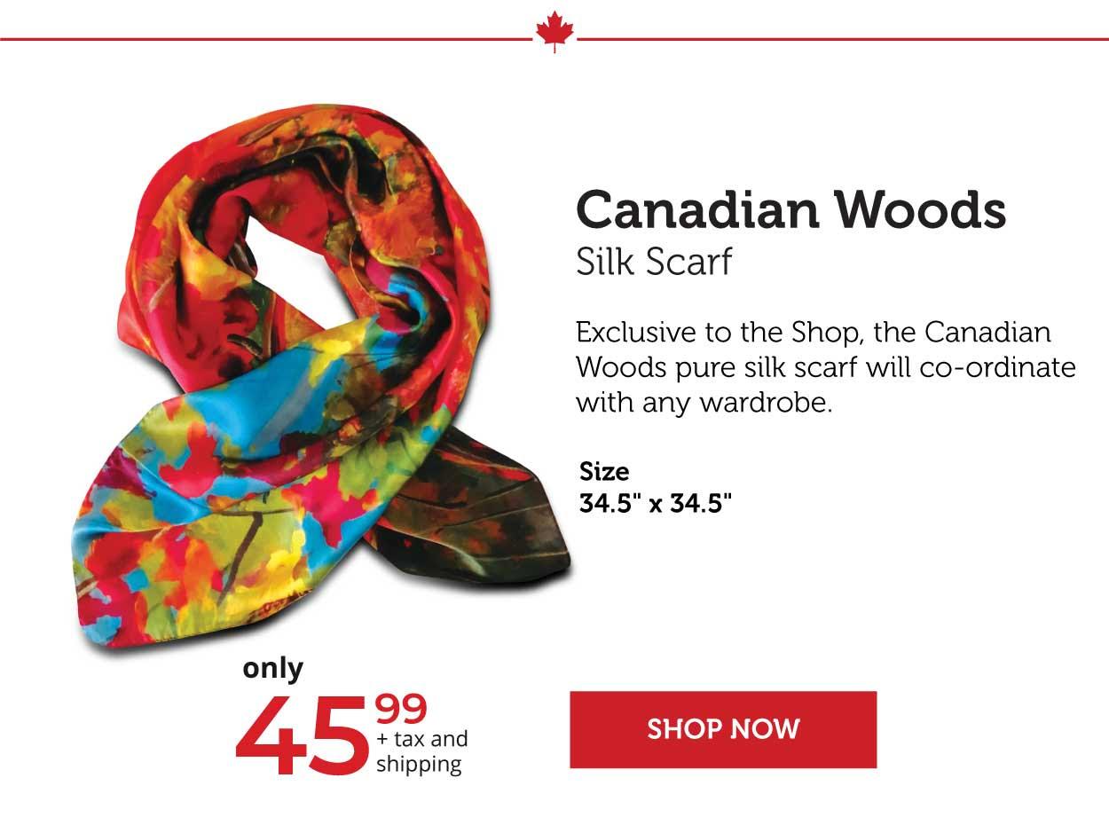 Canadian Woods Silk Scarf