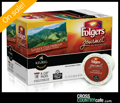 Folgers Lively Colombian Keurig K-cups
