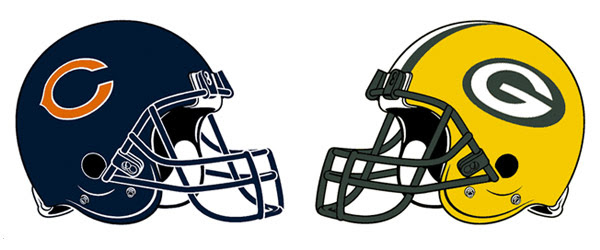 Image result for bears and packers helmet