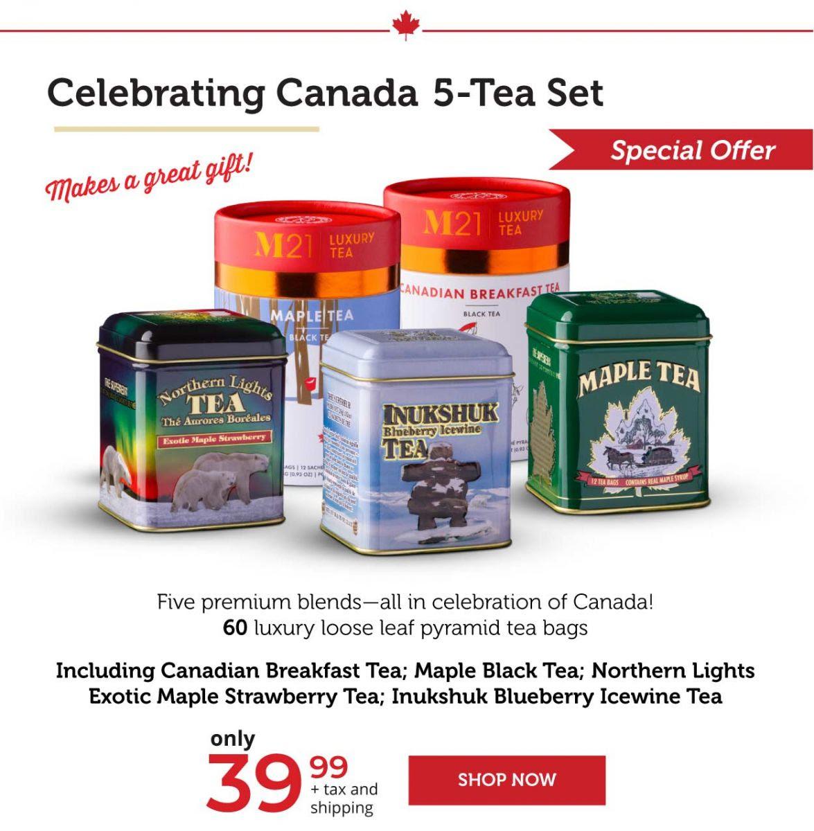 Celebrating Canada 5-Tea Set