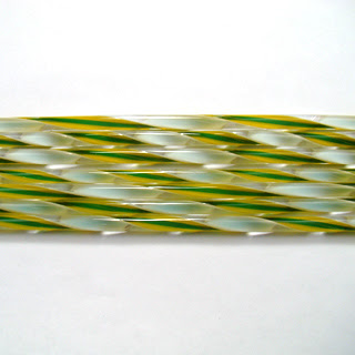 Marigold, Kelly Green, and White Streamer Cane C324