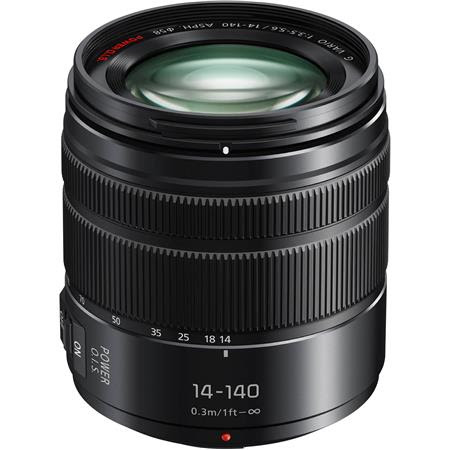 Lumix G Vario 14-140mm f/3.5-5.6 II ASPH Power O.I.S. Lens for Micro Four Thirds, Black