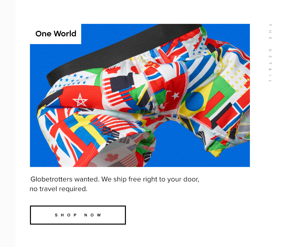 One World. Globetrotters wanted. We ship free right to your door, no travel required. Shop Now
