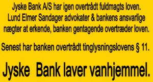 Medvirken direkte eller indirekte i jyske bank 11 års svindel / bedrageri mod kunde Et par søgeord er smuttet med. #JYSKE BANK BLEV OPDAGET / TAGET I AT LAVE #MANDATSVIG #BEDRAGERI #DOKUMENTFALSK #UDNYTTELSE #SVIG #FALSK #Bank #AnderChristianDam #Financial #News #Press #Share #Pol #Recommendation #Sale #Firesale #AndersDam #JyskeBank #ATP #PFA #MortenUlrikGade #PhilipBaruch #LES #LundElmerSandager #Nykredit #MetteEgholmNielsen #Loan #Fraud #CasperDamOlsen #NicolaiHansen #JeanettKofoed-Hansen #AnetteKirkeby #SørenWoergaaed #BirgitBushThuesen #Gangcrimes #Crimes #Koncernledelse #jyskebank #Koncernbestyrelsen #SvenBuhrkall #KurtBligaardPedersen #RinaAsmussen #PhilipBaruch #JensABorup #KeldNorup #ChristinaLykkeMunk #HaggaiKunisch #MarianneLillevang #Koncerndirektionen #AndersDam #LeifFLarsen #NielsErikJakobsen #PerSkovhus #PeterSchleidt
