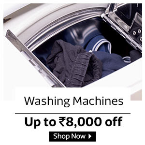 Upto Rs. 8000 off on Washing Machines
