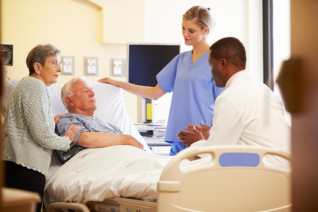 Patient and Family in Hospital