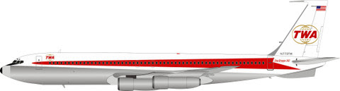 Boeing 707-300 TWA N773TW (polished with stand) | is due: june 2019