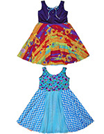 New Reversible Twirly Dress! Blueberry Rainbow Rollercoaster