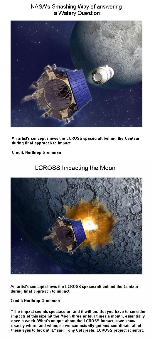LCROSS Impacting the Moon