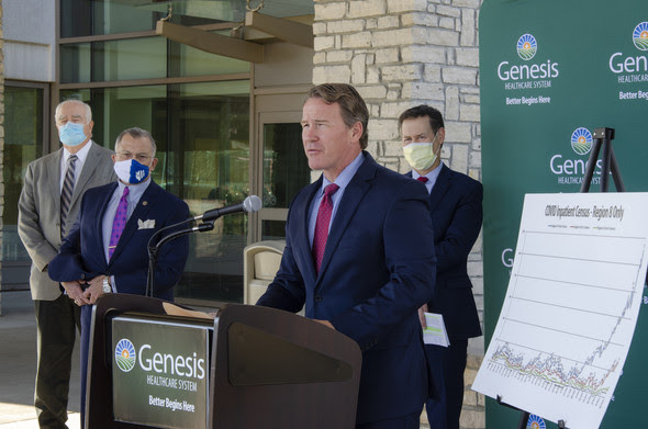 Lt. Governor Jon Husted at Genesis Health
