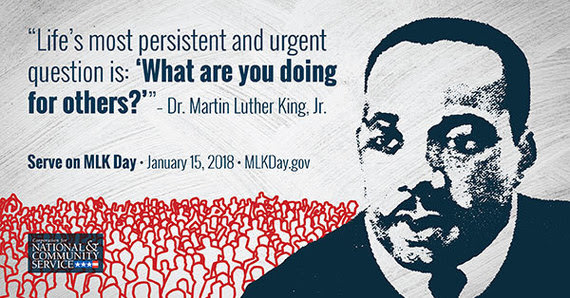 Serve on MLK Day - January 15, 2018