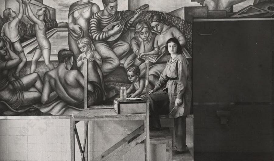 Quando o governo dos Estados Unidos pagou a classe operária a ser artistas