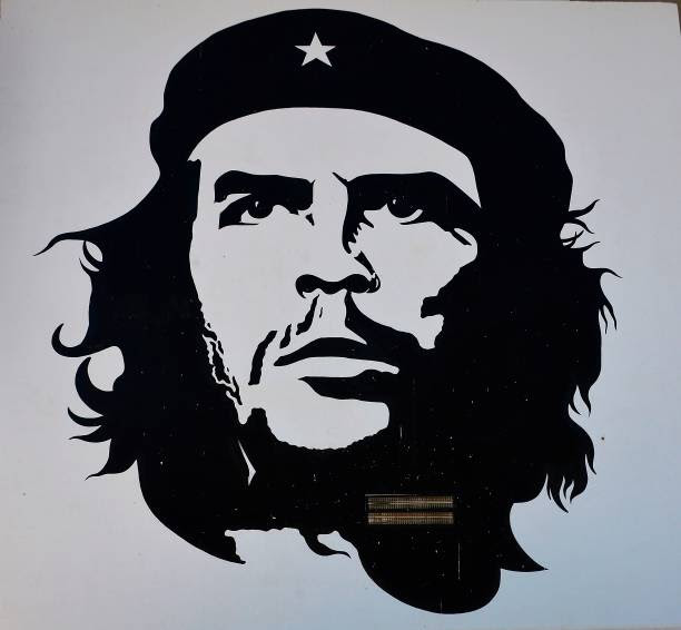 A picture taken on September 8 2017 shows a portrait of late Argentinian revolutionary legend Ernesto Che Guevara painted on an exterior wall of the...