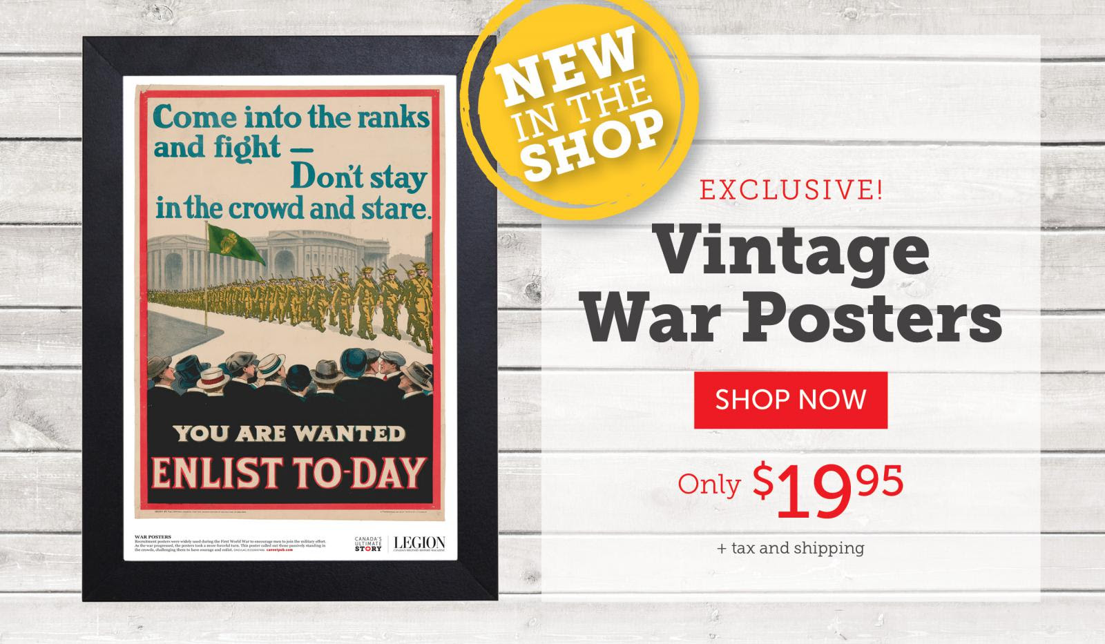 Vintage War Posters now available!