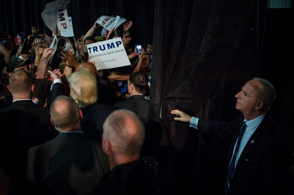 Donald J. Trump after a campaign rally in Greensboro, N.C., last week.