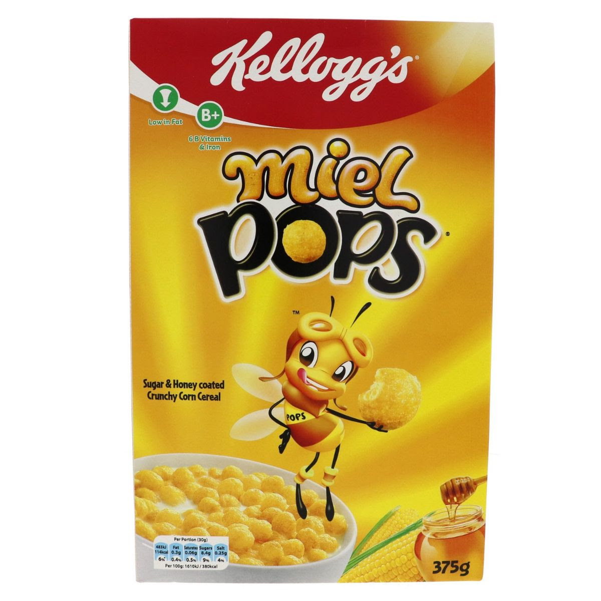 Kellogg's Corn Flakes Honey Pops 375g