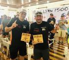 Campeões na UTV Pro: Luppi e Justo comemoram a vitória (FJS Fotos)