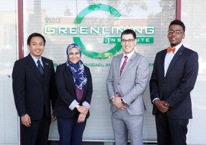 2014-15 Policy Fellows (L to R): Anthony Galace, Zainab Badi, Joel Espino, Tariq Meyers.