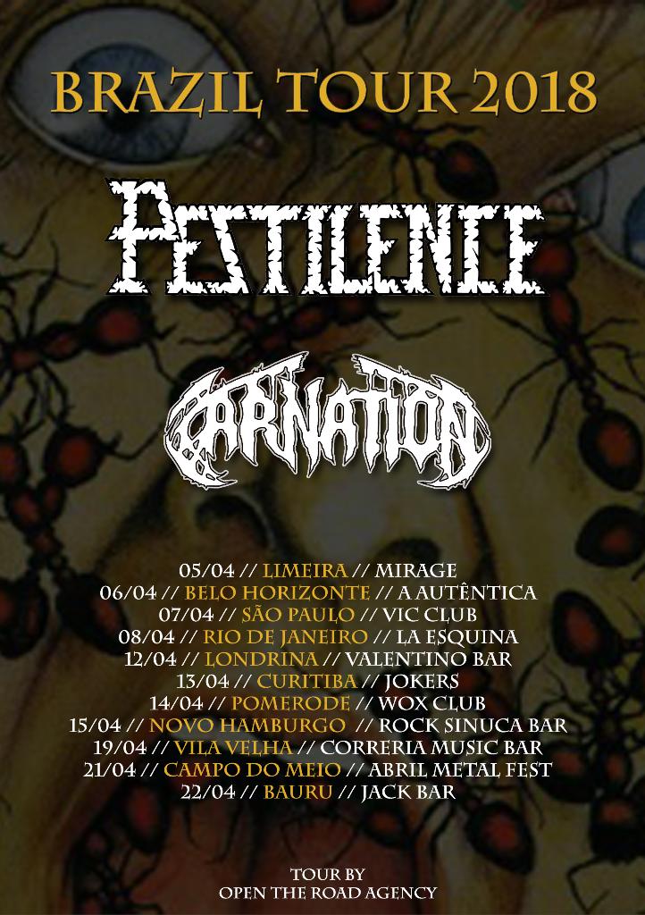 CARNATION tour poster AU 2018