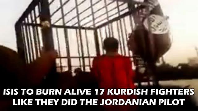 ISIS To Burn Alive 17 Kurdish Fighters (Video)
