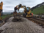 Replacing track over the former 'cattle creep' between Buxton and Stockport
