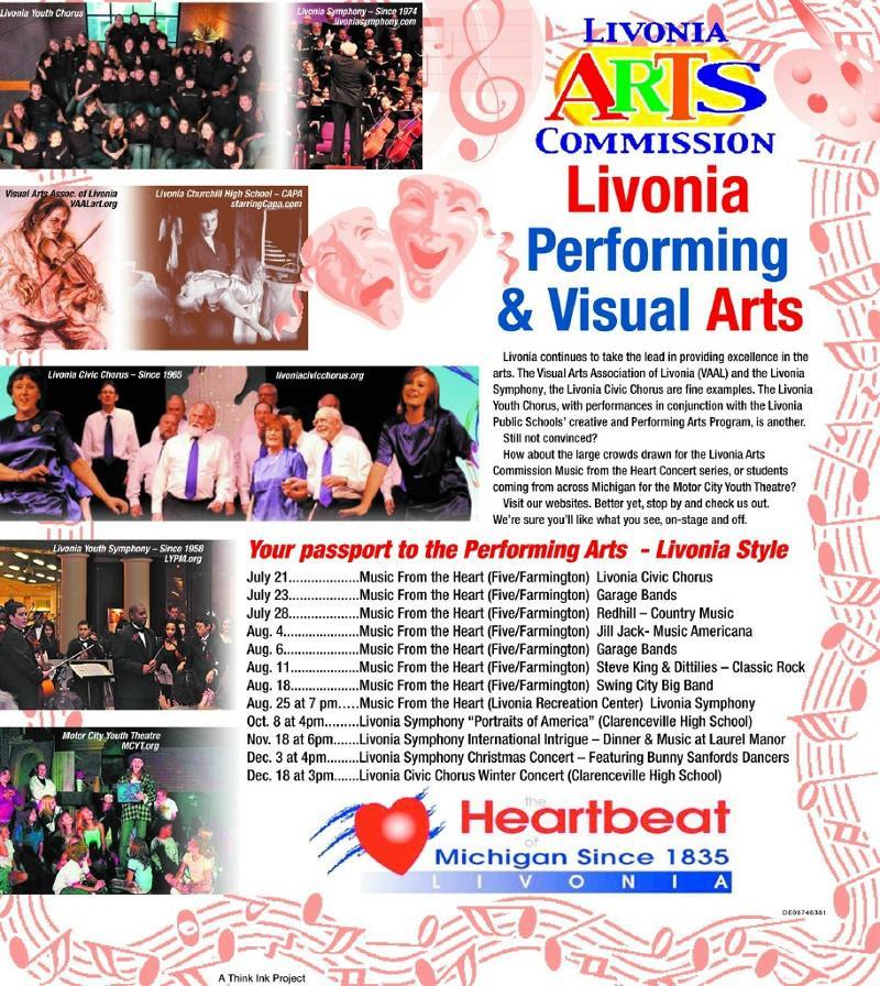 Arts in Livonia ad