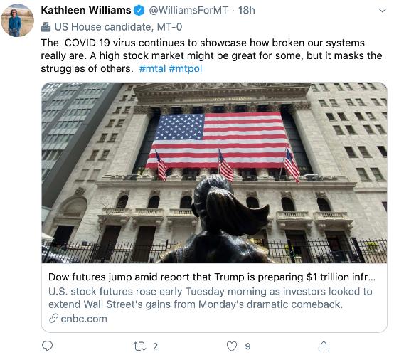 Kathleen Williams tweet